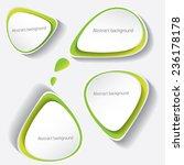 green modern paper banners set  ...