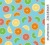 colorful citrus seamless... | Shutterstock .eps vector #236183665