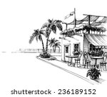 traditional restaurant by the... | Shutterstock .eps vector #236189152