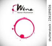 wine background  wineglass ... | Shutterstock .eps vector #236189836