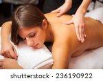 beautiful woman having a massage | Shutterstock . vector #236190922
