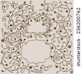 ornate frames and borders on a... | Shutterstock .eps vector #236200762