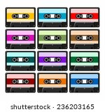 retro cassettes in different... | Shutterstock .eps vector #236203165