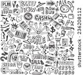 shopping   doodles set  | Shutterstock .eps vector #236208112