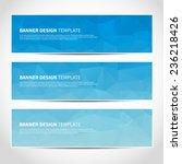 set of trendy blue vector... | Shutterstock .eps vector #236218426