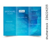 vector blue tri fold brochure... | Shutterstock .eps vector #236224255