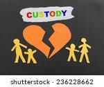 paper family with broken heart... | Shutterstock . vector #236228662