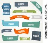 ribbon and banner set | Shutterstock .eps vector #236234296