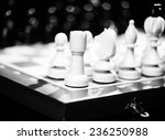 playing wooden chess pieces | Shutterstock . vector #236250988