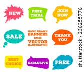 a set of hand drawn banners for ... | Shutterstock .eps vector #236255776