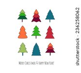 happy xmas greeting card.... | Shutterstock .eps vector #236258062