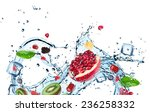 fresh fruit with water splash | Shutterstock . vector #236258332