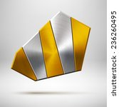 abstract geometric badge  blank ...