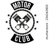 vintage motor club signs and... | Shutterstock .eps vector #236262802