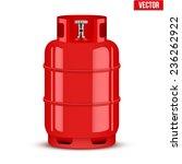 propane gas cylinder. vector... | Shutterstock .eps vector #236262922