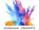 launched colorful powder ... | Shutterstock . vector #236263972
