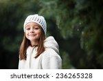 adorable little girl posing... | Shutterstock . vector #236265328