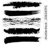 grunge brushes   Shutterstock . vector #23626591