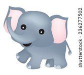 cute little elephant clipart... | Shutterstock .eps vector #236277502