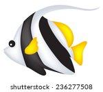 cute black and white angel fish ...