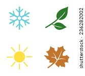 vector set of seasons icons.... | Shutterstock .eps vector #236282002