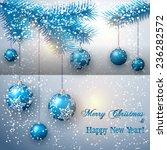 vector christmas greeting card... | Shutterstock .eps vector #236282572