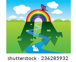 rainbow in the field make...   Shutterstock .eps vector #236285932