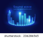 digital equalizer background.... | Shutterstock .eps vector #236286565