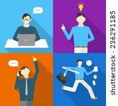 businessman vector... | Shutterstock .eps vector #236291185