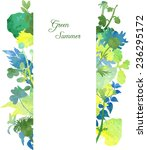 floral template with...   Shutterstock .eps vector #236295172