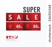 sale discount icons styled ... | Shutterstock .eps vector #236302468
