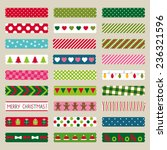 christmas washi tape pieces ... | Shutterstock .eps vector #236321596