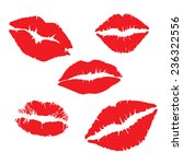 print of lips kiss vector...   Shutterstock .eps vector #236322556
