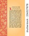 fairy tale flower frame. retro  ... | Shutterstock .eps vector #236327878