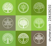 vector tree logo   set of... | Shutterstock .eps vector #236328232