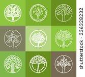 vector tree logo   set of... | Shutterstock .eps vector #236328232