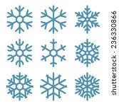 set of nine snowflakes thin... | Shutterstock .eps vector #236330866