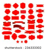 vector set of red vintage labels | Shutterstock .eps vector #236333302