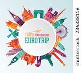 vector illustration of travel... | Shutterstock .eps vector #236338156