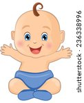 cute baby boy | Shutterstock .eps vector #236338996