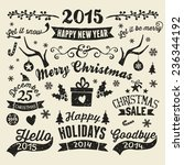 a set of vintage style... | Shutterstock .eps vector #236344192