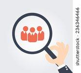 focus group. magnifying glass | Shutterstock .eps vector #236346466