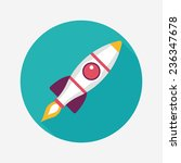 space rocket flat icon with... | Shutterstock .eps vector #236347678