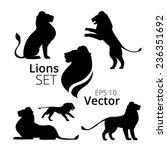 lions set vector | Shutterstock .eps vector #236351692