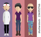 set of people icons in flat... | Shutterstock .eps vector #236352766