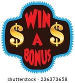 win a bonus vector display... | Shutterstock .eps vector #236373658