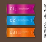 three options   vector ribbon... | Shutterstock .eps vector #236375332