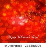 valentine's day vector... | Shutterstock .eps vector #236380306