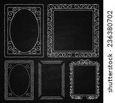 chalk on board. set of frames.... | Shutterstock .eps vector #236380702