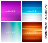 abstract colorful smooth... | Shutterstock .eps vector #236381092